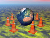 Protect the earth - 3D render — Stok fotoğraf