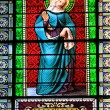 St. Anna stained glass — Stock Photo