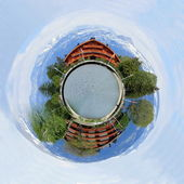 Chalets as a planet — Stock Photo