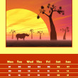 Safari calendar for 2014 - september — Stock Photo