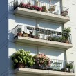 Stock Photo: Colorful balconies