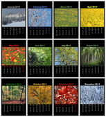 Nature calendar for 2014 — Stock Photo
