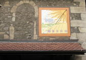 Solar clock, old city, Geneva, Switzerland — Stock Photo
