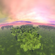 Forests - 3D render — Stock Photo