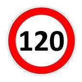 120 maximumsnelheid teken — Stockfoto