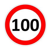 100 speed limit sign — Stock Photo