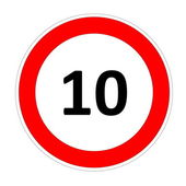 10 speed limit sign — Stock Photo