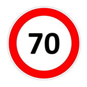 70 speed limit sign — Stock Photo