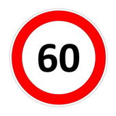 60 speed limit sign — Stock Photo