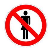 No trespassing sign females — Stock Photo
