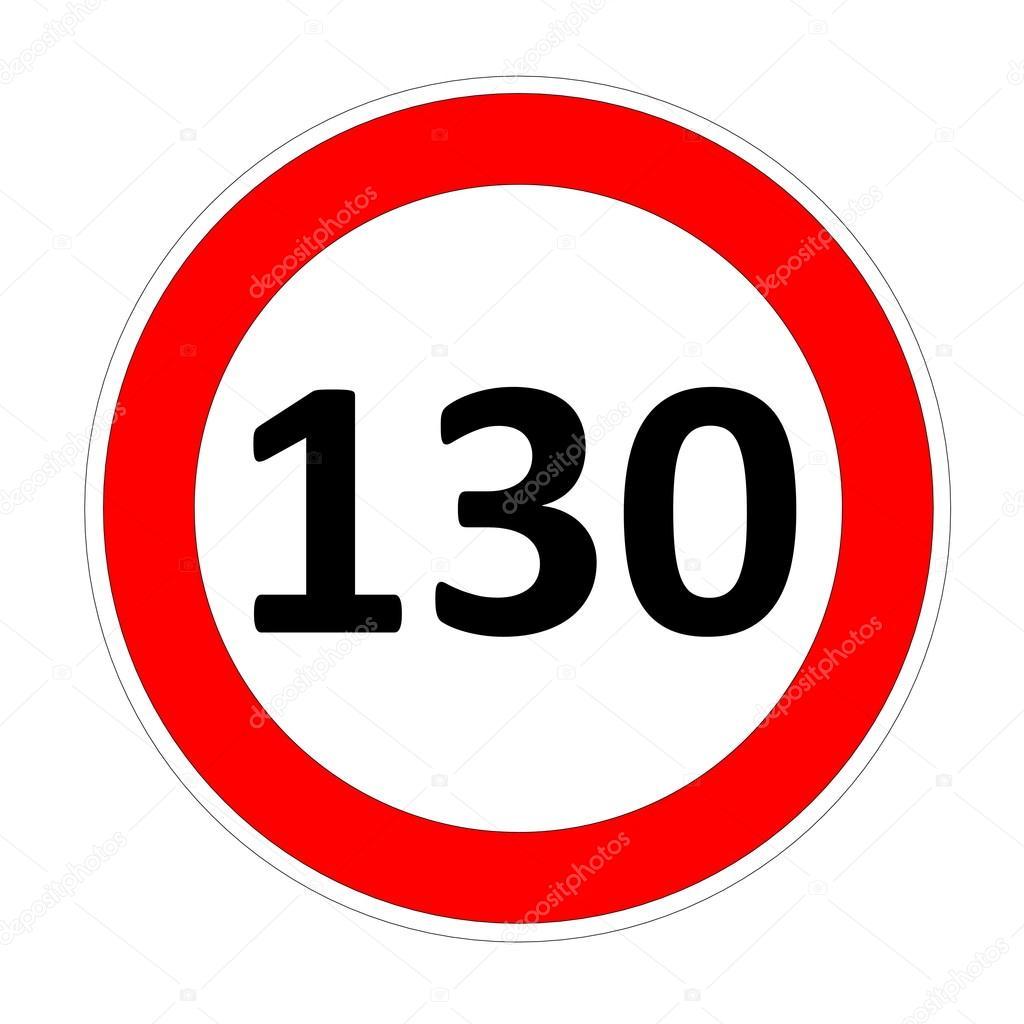 panneau de limitation de vitesse 130 photographie elenarts 31975541. Black Bedroom Furniture Sets. Home Design Ideas