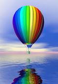 Färgglada varm luft ballong - 3d render — Stockfoto