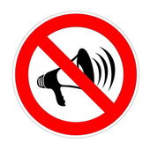 No noise allowed — Stock Photo