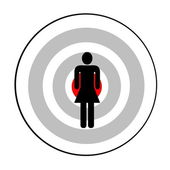 Female targeted — Stock Photo