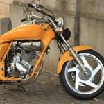 Motorcycle engine close up — Stock Photo #34777623