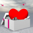 Love as a gift - 3D render — Stock Photo