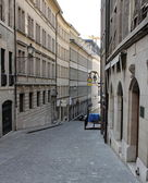 Old street in Geneva, Switzerland — Stock Photo