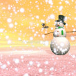 Snowman under the snow - 3D render — Stock Photo