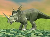 Styracosaurus dinosaur - 3D render — Stock Photo