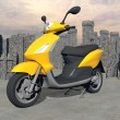 Urban scooter - 3D render — Stock Photo #36793853