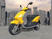 Urban scooter - 3D render — Stok fotoğraf