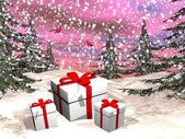 Christmas gifts - 3D render — Stock Photo