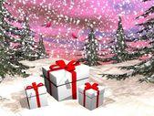 Christmas gifts - 3D render — Foto de Stock