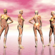 Muscles of woman - 3D render — Stock Photo