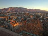 Geneva city i saleva góry, szwajcaria (hdr) — Zdjęcie stockowe