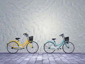 City bikes - 3D render — Stock Photo