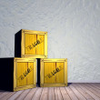 Stock Photo: Fragile crates - 3D render