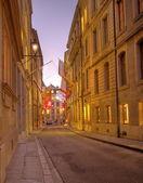 Straße im alten Genf, Schweiz (hdr) — Stockfoto
