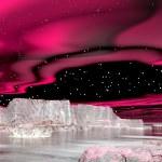 Northern lights (aurora borealis) - 3D render — Stockfoto