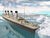 Titanic ship - 3D render — Stockfoto