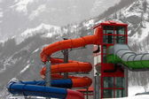 Water park in winter — Stock Photo