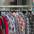 Stock Photo: Shirts at shop