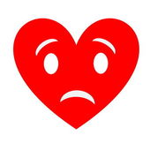 Sad heart — Stock fotografie