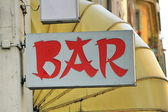 Chinese style bar sign — Stock Photo