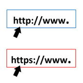 Http and https — Stock Photo
