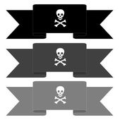 Pirate banners — Stock Photo