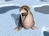 Walrus mouth - 3D render — Photo