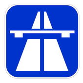 European highway icon — Stock Photo