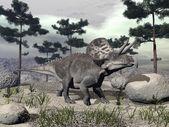 Zuniceratops dinosauro - rendering 3d — Foto Stock