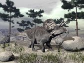 Zuniceratops dinossauro - render 3d — Foto Stock