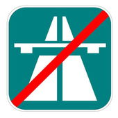 Swiss highway end icon — Stock Photo