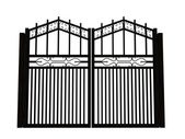 Iron gate — Stock Photo