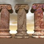 Stone columns - 3D render — Stock Photo #46106257