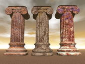 Stone columns - 3D render — Stock Photo