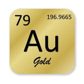 Gold element — Stock Photo