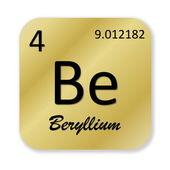 Beryllium element — Stock Photo